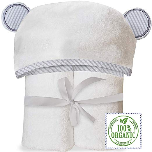 3. Natemia Extra Soft Baby Hooded Baby Towels $23.95