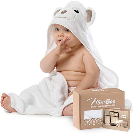 8. Premium Ultra Soft Organic Baby Hooded Baby Towels $20.95