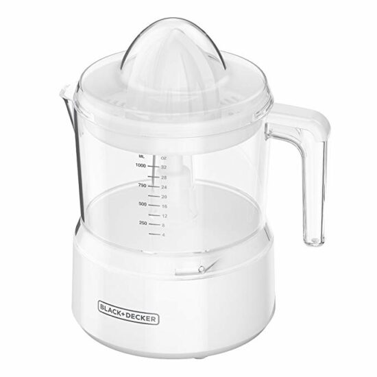 8 BLACK+DECKER 32oz Citrus Juicer, White, CJ650W