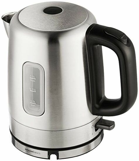 4 AmazonBasics Stainless Steel Electric kettle