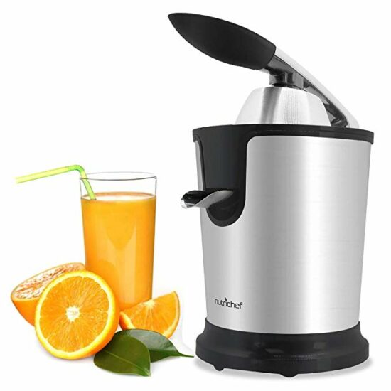 3 Stainless Steel Electric Juice Press - Citrus Juicer Squeezer Masticating Machine 160W Power