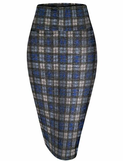 6.Hybrid and company women's premium nylon Ponte stretch office pencil skirt made in the USA