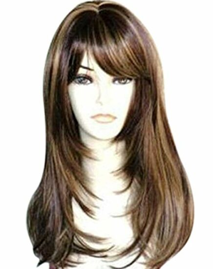 5. BROWN WIG WITH HIGHLIGHTS