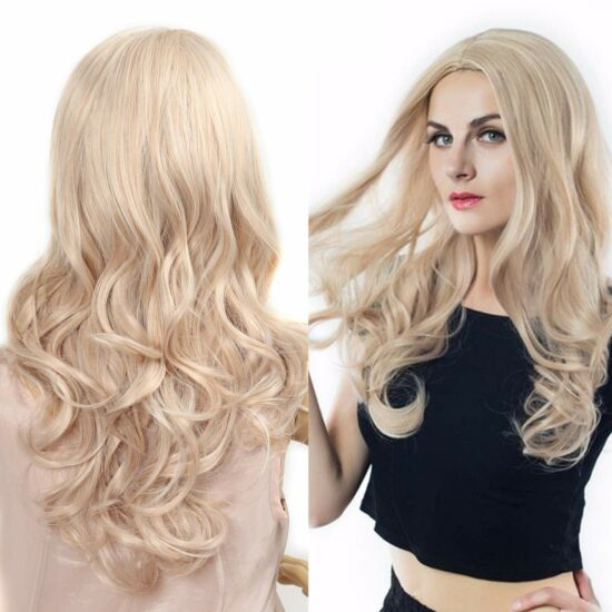 1. MIXED COLOR GLUELESS LONG SYNTHETIC WIG