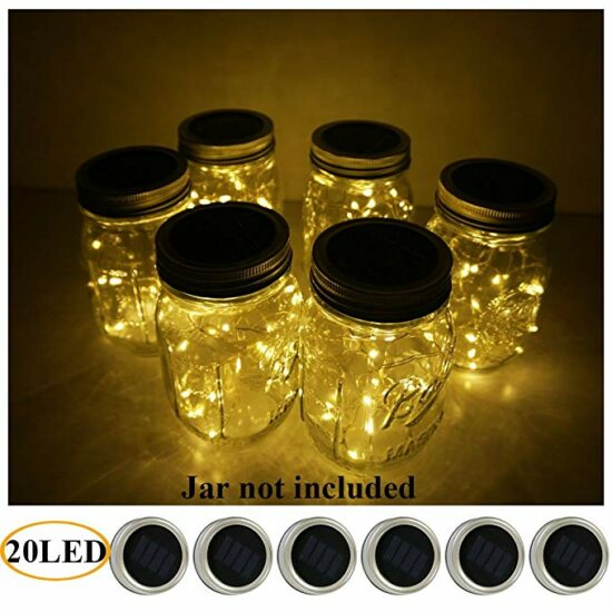 3. 6 pack 20 LED Patio