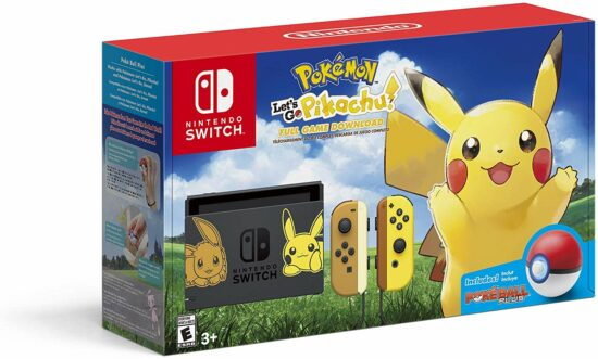 5. Nintendo Switch Console Bundle- Pikachu & Eevee Edition with