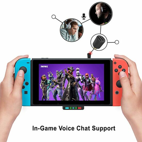 2. Nintendo switch with air pods and Bluetooth adapter