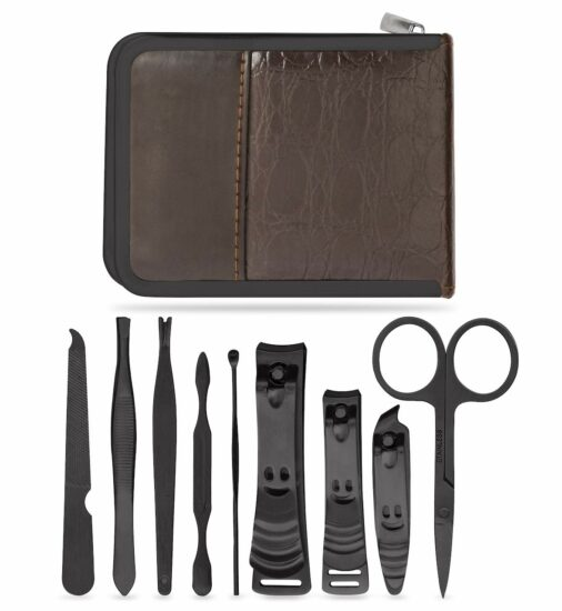 10. Manicure Set - Nail Kit - Pedicure Kit - Grooming Care Tools for Men and Women