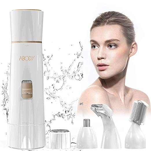 2. Abody Facial Hair Removal - 4 in 1 Painless Electric Hair Removal for Women Kit