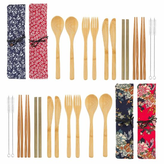 2.4 Pack Bamboo Cutlery Set