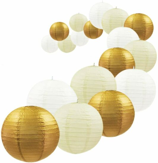 3er Pack Lampshade Paper Lantern Lantern From Rice Paper Decoration 12 colours to choose from