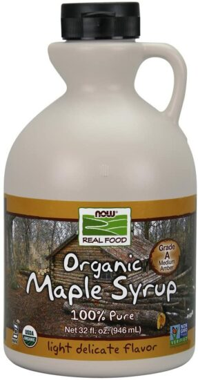 8. NOW Foods. Maple Certified Organic Syrup