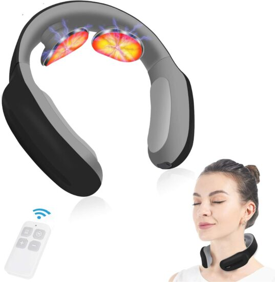 6: Neck Massager with Pulse Heated, Portable Smart Cordless 4D Electric Neck Massage Equipment