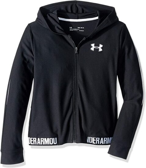 10. Under Armour, Girls Play Up Full-Zip Jacket