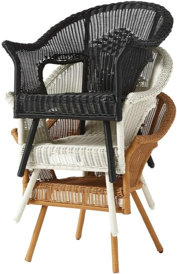 4. BrylaneHome All-Weather Stacking Chair