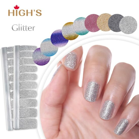 10. HIGH'S EXTRE Adhesion 20pcs Nail Art Transfer Decals Sticker Glitter