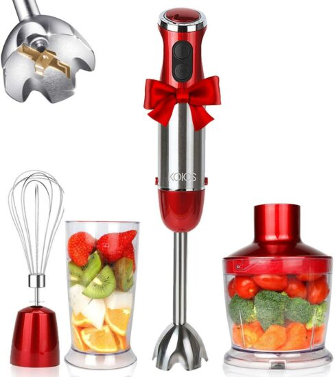 8. KOIOS 800W 4-in-1 Multifunctional Hand Immersion Blender