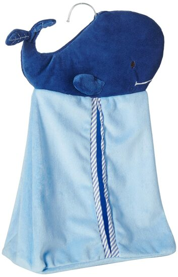 5. Levtex home baby diaper stacker, blue whale