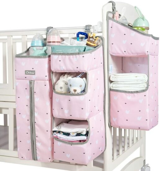 7. Orzbow 3-in-1 nursery organizer and baby diaper caddy