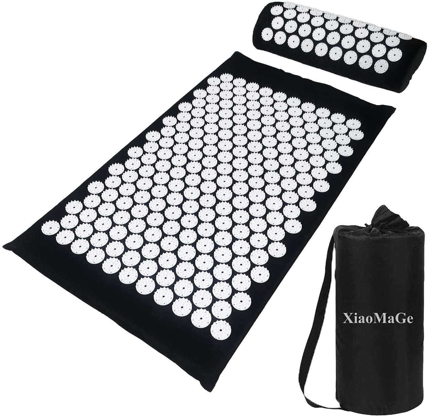 2. XiaoMaGe Yoga Acupressure Mat and Pillow Set