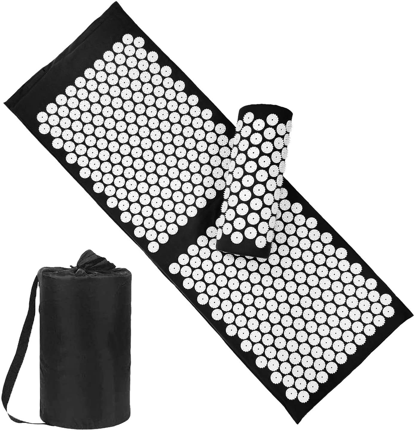 10. XiaoMaGe Yoga Acupressure Mat and Pillow Set