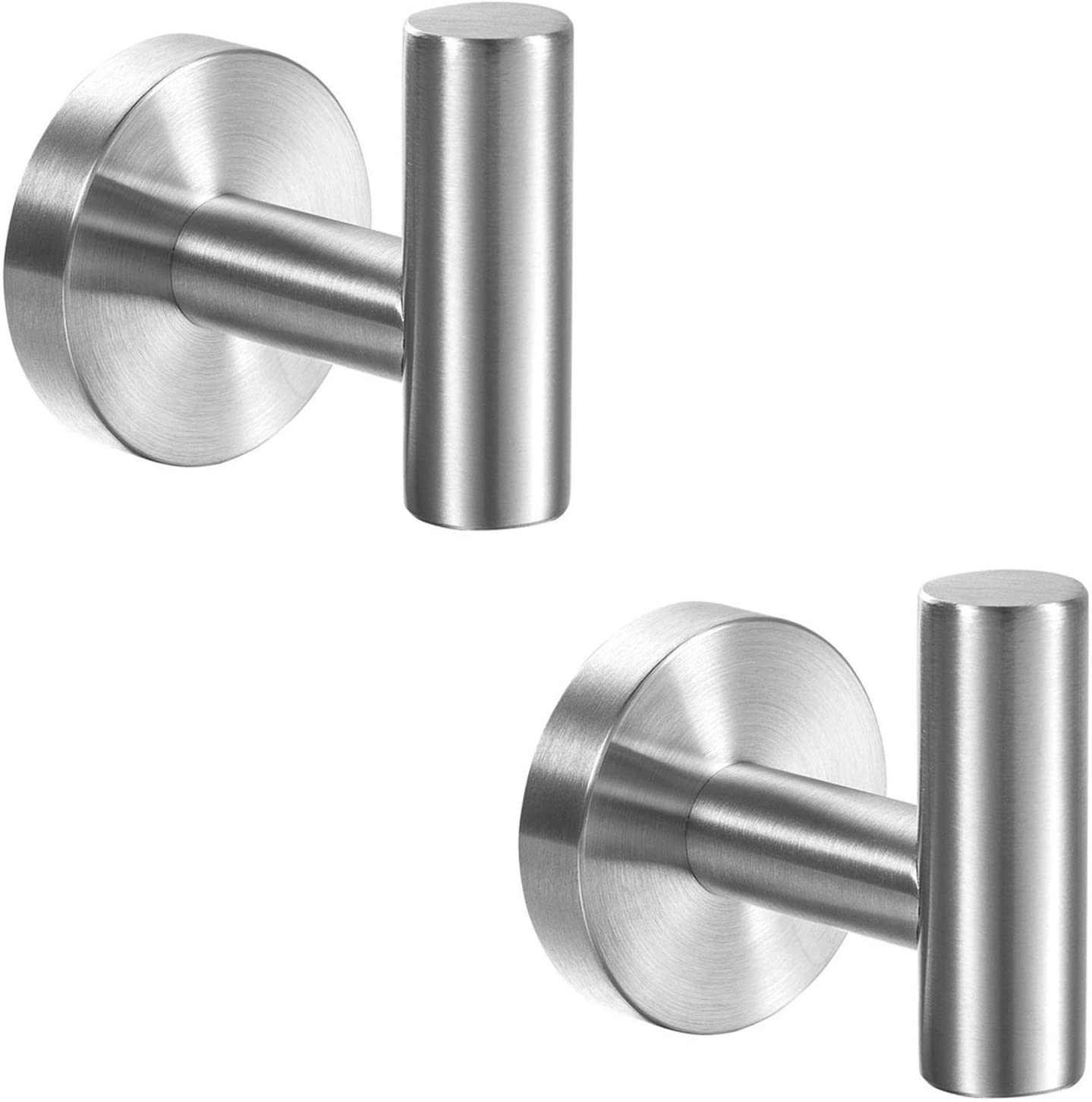7. YGIVO 2 Pack Towel Hooks, with Brushed Nickel SUS304